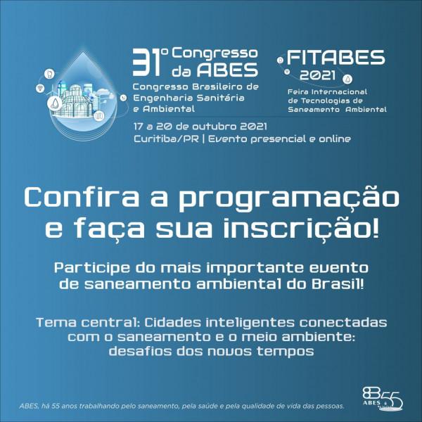 31º CONGRESSO BRASILEIRO DE ENGENHARIA SANITÁRIA E AMBIENTAL