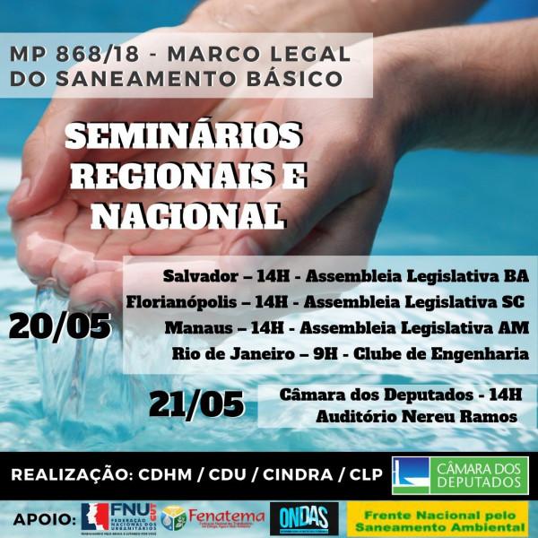 MP 868/2018 seminários regionais e nacional