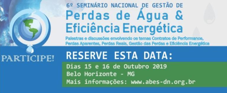 6º Seminário nacional de gestão de perdas de água e eficiência energética