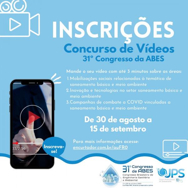 31º Congresso Nacional da ABES Concurso de vídeos sobre saneamento e meio ambiente