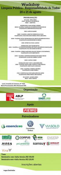 workshop limpeza pública responsabilidade de todos