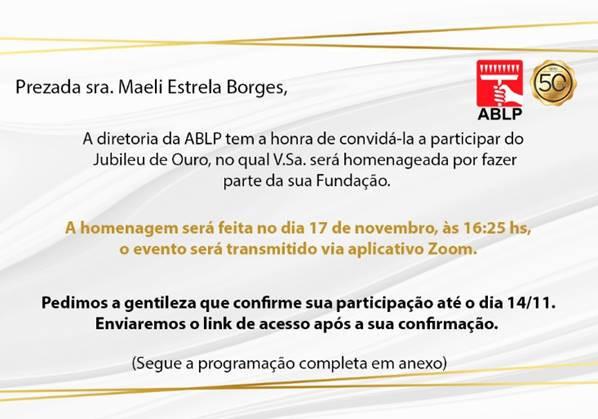 ABLP homenageia Maeli Estrela Borges