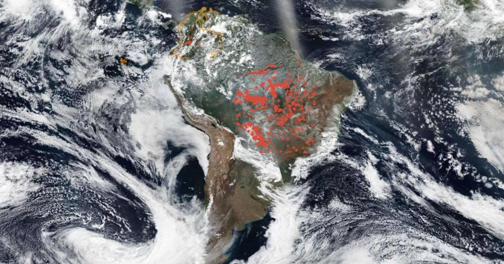 Imagens satélite do Banco de dados INPE sobre queimadas no Brasil 2019
