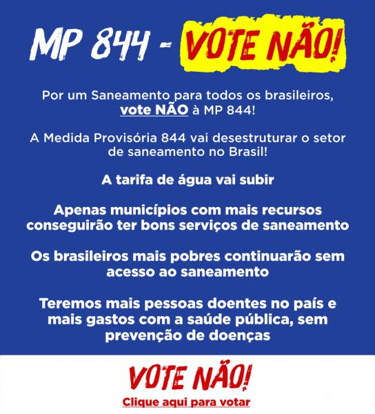 MP 844 DESESTRUTURA O SANEAMENTO