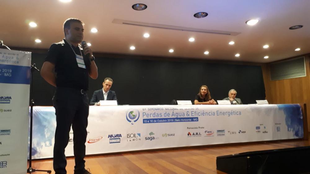 Painel 1 do 6º Seminário Nacional de Gestão de Perdas de Água e Eficiência Energética