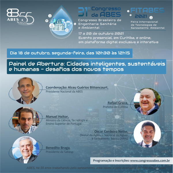 Congresso brasileiro de engenharia sanitária e ambiental está chegando