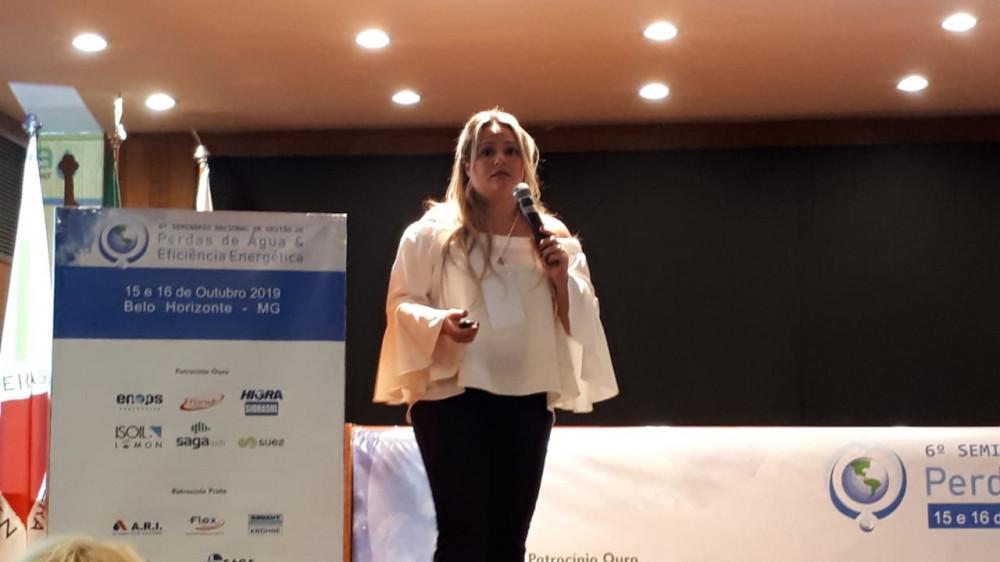 Milene Aguiar - 6º Seminário Nacional de Gestão de Perdas e Eficiência Energética da ABES