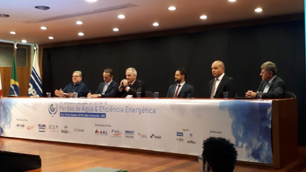Mesa de abertura do 6º seminário nacional de gestão de perdas de água e eficiência energética