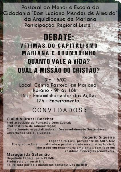 Desastre em Brumadinho é debatido em Mariana com presença da ABES-MG