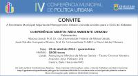 PBH realiza Conferência de Meio Ambiente Urbano