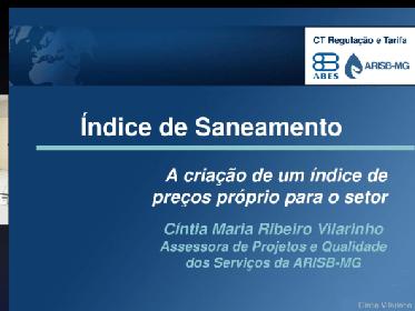 ÍNDICE DE SANEAMENTO