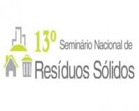 XIII SEMINÁRIO NACIONAL DE RESÍDUOS SÓLIDOS