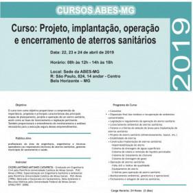 CURSO DE ATERRO SANITÁRIOS ABES 2019