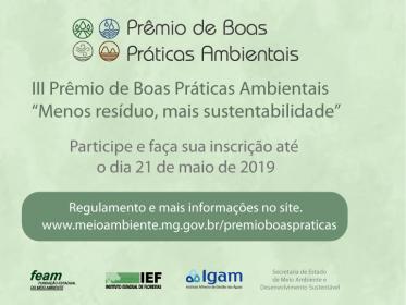 PRÊMIO BOAS PRÁTICAS AMBIENTAIS 2019