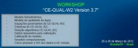 "Brasília recebe Workshop sobre ""CE QUAL-W2 Version 3.7"""