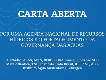 CARTA PELA GOVERNANÇA DAS ÁGUAS