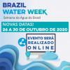 Brazil Water Week: evento online de 26 a 30 de outubro