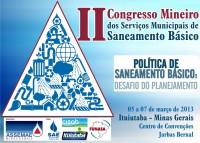 Ituitaba sedia II Congresso Mineiro dos Serviços Municipais de Saneamento Básico