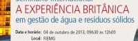 BH recebe experiência britânica em gestão de água e resíduos