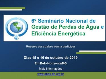 6º SEMINÁRIO NACIONAL DE GESTÃO DE PERDAS