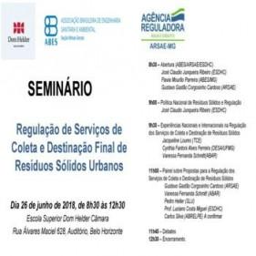SEMINÁRIO REGULAÇÃO DOS SERVIÇOS DE COLETA E DESTINAÇÃO FINAL DOS RESÍDUOS SÓLIDOS URBANOSW