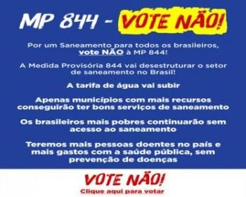 """VOTE """"NÃO"""" CONTRA A MP 844"""