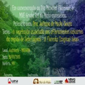 MNE Gruta Rei do Mato comemora o Dia Mundial Florestal